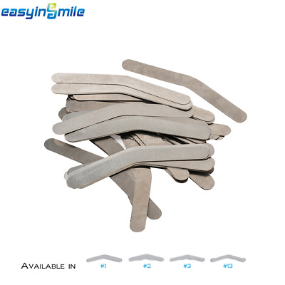 144pcs/pack EASYINSMILE Dental Stainless Steel Tofflemire Matrix Bands .0015""
