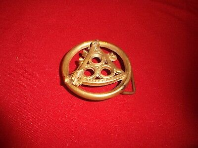 RARE Vintage Antique Solid Brass Swinging Pendulum Collectible Old Belt Buckle