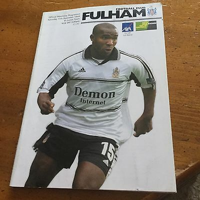 Fulham V Luton Town 11 Dec 99 Fa Cup 3Rd Round