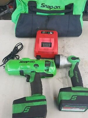 """Snap-On CT8850 Green 18V 1/2"""" Drive Cordless Lithium Impact Wrench"""