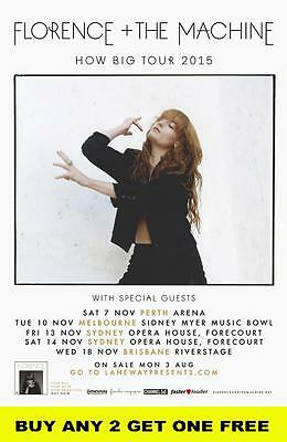 FLORENCE AND THE MACHINE 2015  Australian  Laminated Tour Poster