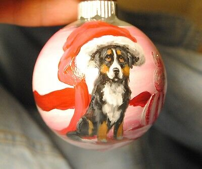 Original Painting~Bernese Mountain Dog~Christmas Ornament~Hand Painted~art~SALE!