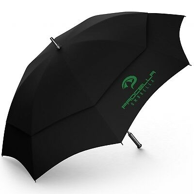 Procella 62 Inch Golf Umbrella Reinforced Vented Windproof Double Canopy Automat