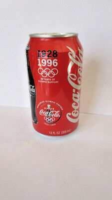 Coca Cola Can Commemorating 68 years of Olympic Support 1928-1996