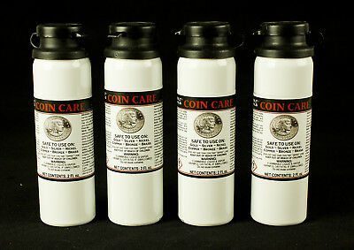 Coin Care Cleaner - Gold + Silver + Nickel + Copper + Bronze - 4 Bottles Total