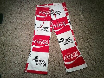 Vintage Coca Cola Bell Bottom Beach Pants - Size Small - Made In U.s.a.