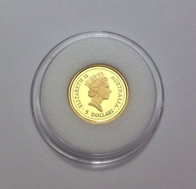 """1994-P $5 Proof Australian Gold Nugget """"Red Kangaroo"""" ~ Rare! Only 250 Minted!!!"""