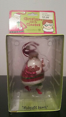 Dept. 56 Christmas With The Clauses Midnight Snack Christmas Ornament