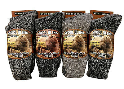 Mens Thick Heavy Duty Wool Blend Work Hiking Boot Socks Winter Warm Thermal UK