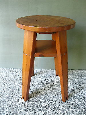 Antique Side Table, Arts and Crafts Style Plant Stand, Vintage Wood, Sturdy