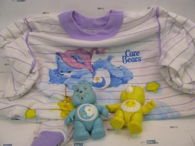 Care Bear Night Gown and Two Care Bears Figures  Girls Size 5-8