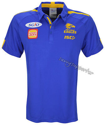 West Coast Eagles 2018 AFL ISC Royal Players Polo Shirt Sizes S-5XL