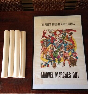 Vintage 1975 Marvel poster designed by John Buscema and Joe Sinnott *RARE*