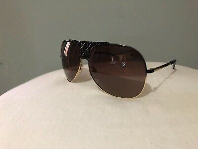 25e95e53c8d1 AUTHENTIC Christian Dior Sunglasses MyLadyDior 8 Aviator brown Gold Cannage  lady