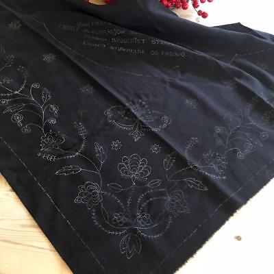 New Norwegian (Rogaland?) Bunad Shawl Marked For Embroidery From Norway