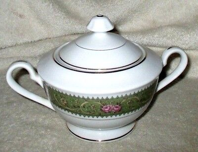 "VTG **NORLEANS**  ""Court Ship""  Floral/Gold Trim, Fine China, Sugar Bowl W/Lid"
