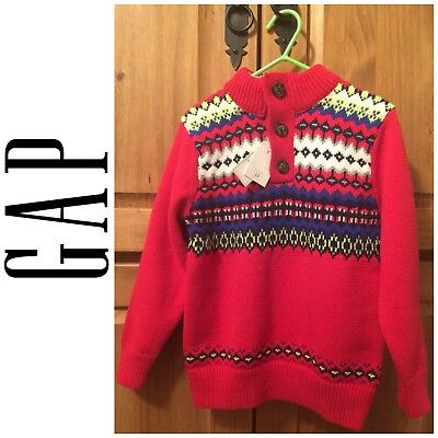 NWT Baby Gap 3T Toddler Boy's Fair Isle Sweater Heather Gray ...