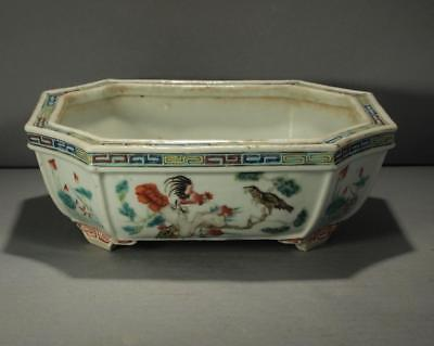 Fine Chinese Taste Qing Dynasty Chicken Famille Rose Planter
