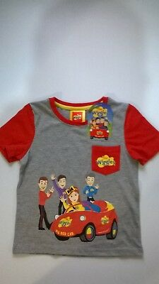 Wiggles / Big Red Car T - Shirt / Boys / Sizes 1, 2, 3 And 4.
