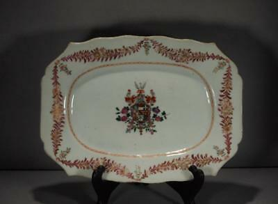 Chinese Export Armorial Platter Arms Of Matthew Circa 1775 #2
