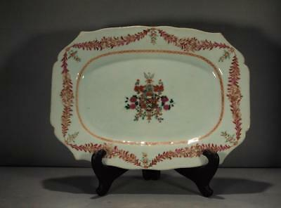 Chinese Export Armorial Platter Arms Of Matthew Circa 1775