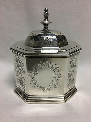 Lows, Ball & Co Coin Silver Tea Caddy 1842-1846 Boston, MA