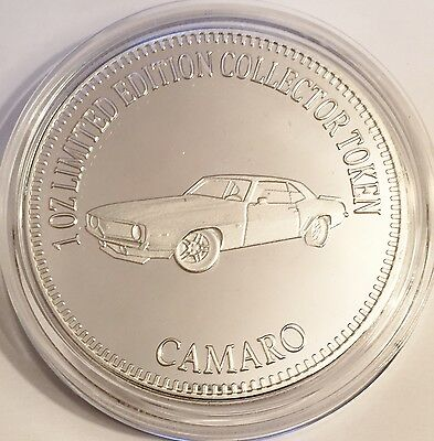 "NEW 2016 ""CAMARO"" M/Car Series 2 1 0z HSE 999 Fine Silver Coin LTD 2,500"