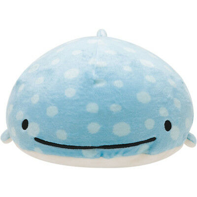 SAN-X Jinbesan Jinbei Whale Plush Nesting Cushion Stuffed Japan Figures Smile