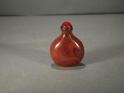 Beautiful Chinese Qing Dynasty Bloodstone Snuff Bottle
