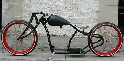 2017 Custom Built Motorcycles Bobber  MMW SCHWINN SUPER DUPER  GIRDER  26,26  BOARDTRACK RACER WITH WHITEWALLS