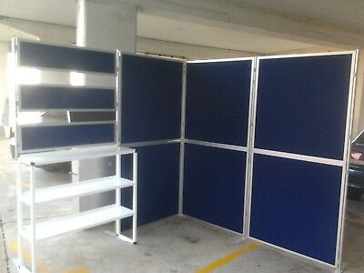 Modular Trade show stall Market Display  - Clip and pole panel display system