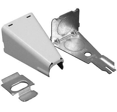 """Wiremold V5785 Raceway Combination Connector, 1/2"""", Raceway to Outlet Box, Ivory"""