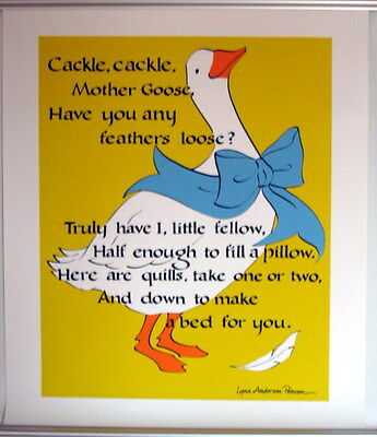 Vintage MOTHER GOOSE POSTER Lynn Anderson Peterson MYSTIC SEAPORT MUSEUM CT