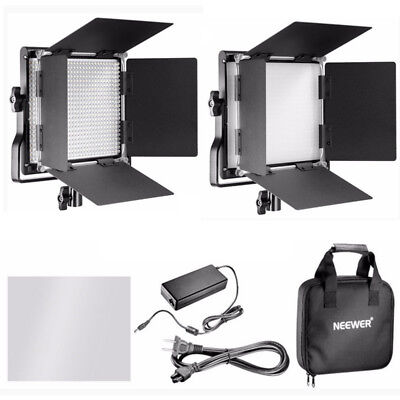 Neewer 2pcs Professional Dimmable Metal Bi-color 660 LED Video Light + Carry Bag