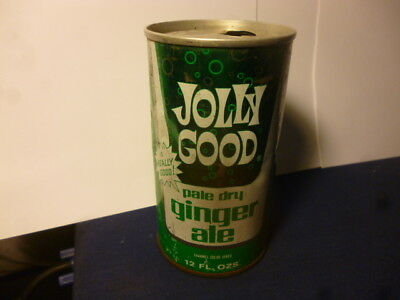 Old Jolly Good Pale Dry Ginger Ale Soda Can~Krier Preserving Co~Random Lake Wis