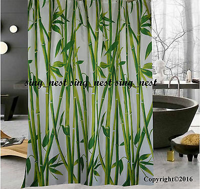 CLEARANCE Lucky Bamboo Fabric Shower Curtain New Free Shipping