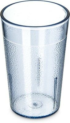 6 Pack Restaurant Break Resistant Plastic Clear Drinking Glass Cups 5 Ounce