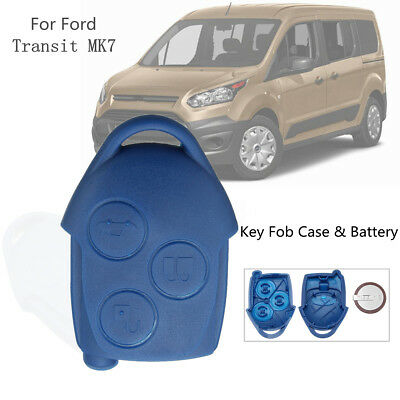 3 Button Remote Key Fob Case Shell Cover W/ VL2330 Battery For Ford Transit MK7