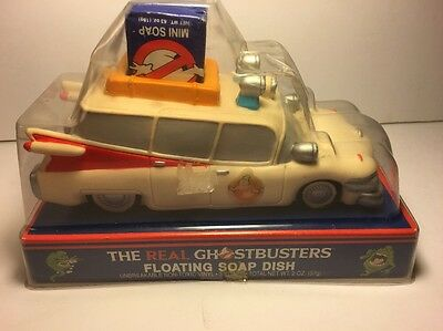 Rare 1986 The Real Ghostbusters Ecto-1 Car Tv Movie Cartoon Floating Soap Dish