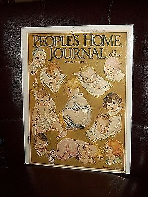 "People's Home Journal Babys March 1925 by Anne Couper 14""H by 10""W"