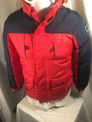 Tommy Hilfiger Boys Size 16-18 16/18 XL Winter Jacket Coat Puffer Red Insulated