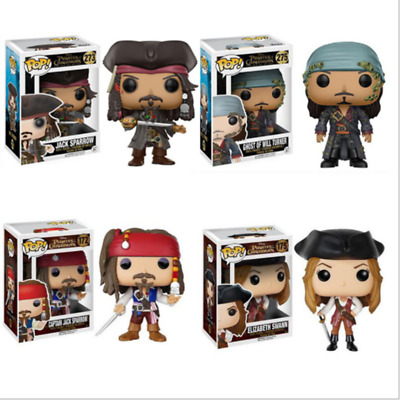 Funko Pop Pirates of The Caribbean 5 Jack Captain Elizabeth Swann PVC Figure Toy