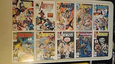 Marvel Comics AVENGERS Mixed lot of 10 comics bagged and boarded NM condition