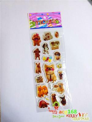 Simulation Dog Animal Xmas 1pc Puffy Cartoon Stickers Lots Craft Kid Party Gifts