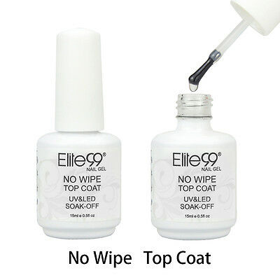 Elite99 Soak Off No Wipe Top Coat UV LED Gel Nail Polish Varnish 15ML