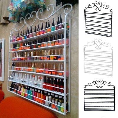 5/6 Tier Metal Wall Mounted Nail Polish Rack Organizer Display Holder ShelfDE