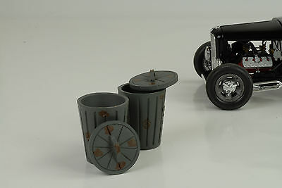 Trash Can Bins Set Diorama Equipment O.Figurine / Car 1:18 AMERICAN