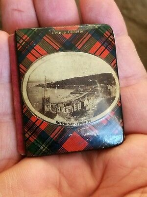 Old Antique Mauchline Ware Royal Tartan Miniature Book My Redeemer Bible Quotes