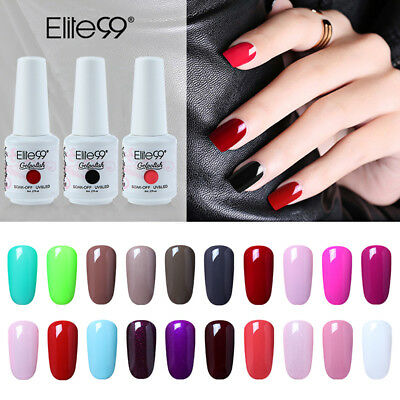 Soak Off Gel Polish LED UV Nail Lacquer Varnish Manicure Base Top Coat Elite99