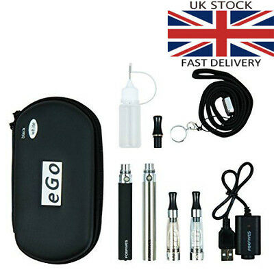 2x E Cigarette CE4 1100 mAh Rechargeable Battery Full Kit Gift Pack